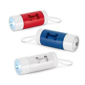 Kit de higiene para cachorro ABS Com LED, mosquetão e 10 sacos plástico Incluso 3 pilhas LR1130Port