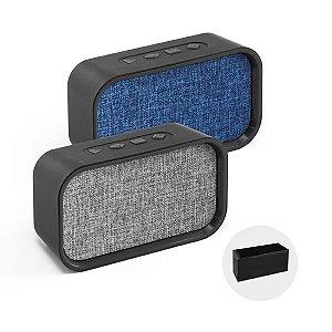 Caixa de Som c/ Microfone. ABS e tecido em poliéster