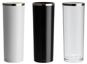 NP - Copo Long Drink Epic Golden 330ml em PS cristal