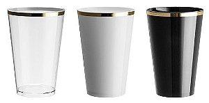 NP - Copo Usual Drink Golden 350ml em PS cristal
