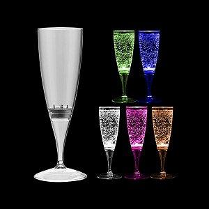 NP - TAÇA DE CHAMPANHE LIT LED BRANCO OU MULTICOLOR 160ML Taça em PS Cristal com LED Branco ou  Multicolor