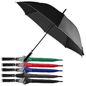 GC1030 -  Guarda-chuva com cabo plástico e haste de metal, botão acionador para abertura automática, oito varetas.