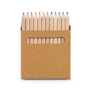 SP 91747 - Caixa de cartão com 12 mini lápis de cor