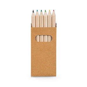 SP 91750 - Caixa de cartão com 6 mini lápis de cor