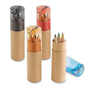 SP 91751 - Caixa de cartão com 6 mini lápis de cor