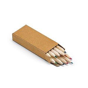 SP 91931 - 10 Mini Lápis de Cor c/ Caixa de cartão
