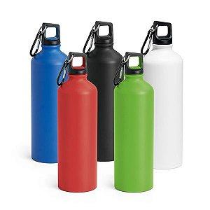 SP 94633 - Squeeze em Alumínio - Acabamento matt. c/ mosquetão - Capacidade até 800 ml