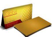 Cartão Visita Off-Set - GLD40100 - 100 Unid - Gold Master - 300g - 4x0