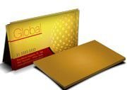Cartão Visita Off-Set - GLD40500 - 500 Unid - Gold Master - 300g - 4x0