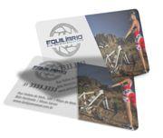 Cartão Visita Off-Set - PVCTB50 - 50 Unid - Pvc Translucido 30g c/ Tinta Branca - 4x0