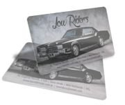 Cartão Visita Off-Set - PVCB014 - 500 Unid - Pvc Transparente 30g - c/ Tinta Branca - 4x0