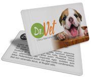 Cartão Visita Off-Set - PVCC35 - 500 Unid - Pvc Cristal 75g - 4x1