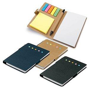 SP 93791 - Caderno - 6 conjuntos: 25 folhas postite cada - Incluso caderno com 50 folhas não pautadas e esferográfica em papel kraft. 100 x 150 mm
