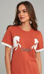 T-shirt Inspiração Bordada