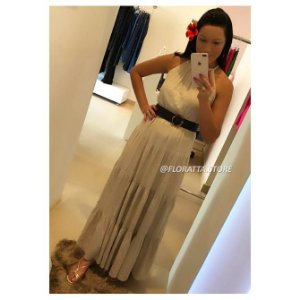 Vestido Longo em Linho