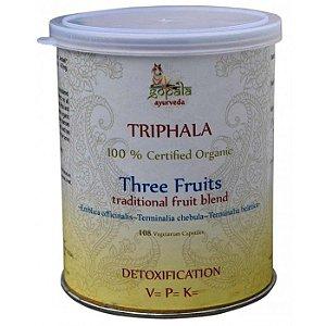 Triphala 108 Cápsulas orgânicas ( bhibitaki +amalaki+ haritaki )