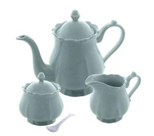 Jogo 03 Peças para Chá ou Café Porcelana Fancy Menta 17737