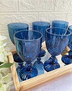Jogo 6 Taças para Água Greek Azul Escuro 345ml 28783