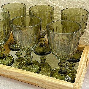 Jogo 6 Taças para Água Greek Verde 345ml 28782
