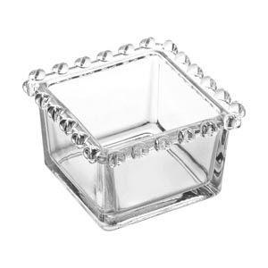 Bowl Quadrado de Cristal Borda Coração 1696