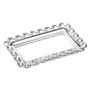 Mini Travessa Retangular de Cristal Coração 10,5cm 1698