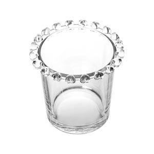 Porta Colher de Cristal Borda Coração Transparente 1700