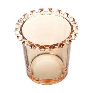 Porta Colher de Cristal Coração Âmbar Metalizado 1722