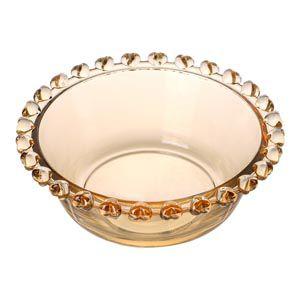 Bowl Pequeno de Cristal Borda Coração Âmbar 1721