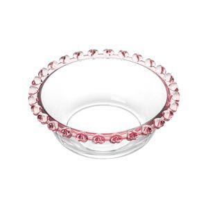 Bowl Pequeno de Cristal Borda Coração Rosa 1710