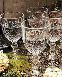 Jogo 6 Tacas 345ml para Água em Vidro Transparente Greek 35451