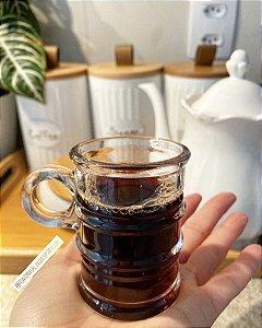 Jogo 6 Canecas de Café Vintage Transparente 95ml 7164