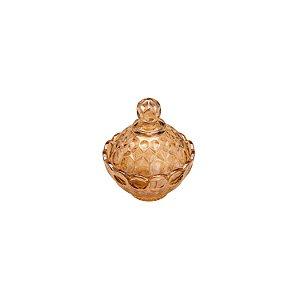 Potiche Decorativa Cristal Angel Ambar sem Pé 11x11cm 27478