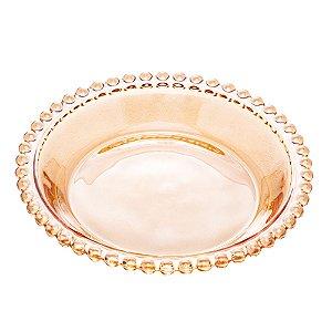 Conj 4 Pratos Sobremesa Pearl Bolinhas Âmbar 14cm 28226