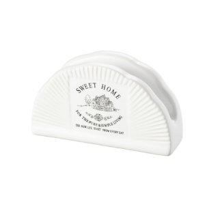 Porta Guardanapos Cerâmica Sweet Home 8136