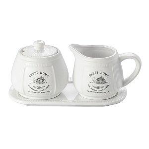 Conj 3 Peças para Café Sweet Home Cerâmica Lyor 8128
