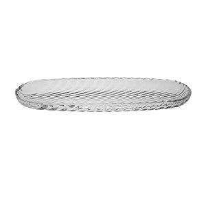 Travessa Para Rocambole Leaf Transparente 39,5cm 4473