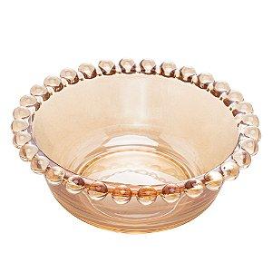 Bowl Pearl Bolinhas Âmbar 12cm Avulso 28228A