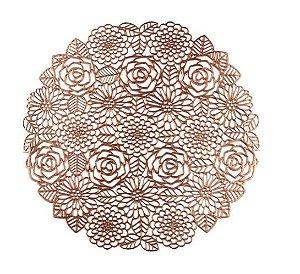 Lugar Americano Plástico Flowers Rosé Gold 38cm 7880