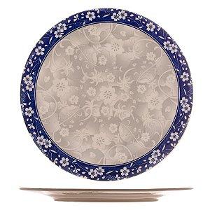 Prato Raso de Porcelana Blue Garden 26cm 8595