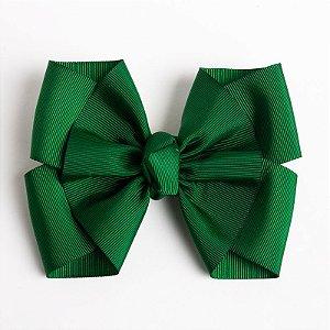 Laço Lírio Verde Bandeira  Fita De Gorgurão No Bico De Pato Com Nó No Meio