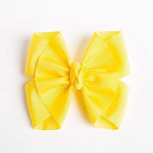 Laço Lírio Amarelo Fita De Gorgurão No Bico De Pato Com Nó No Meio