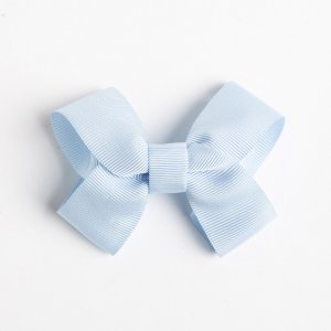 Laço Maracujá Azul Bebê De Fita De Gorgurão No Bico De Pato