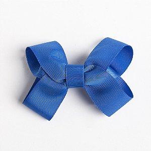 Laço Maracujá Azul De Fita De Gorgurão No Bico De Pato