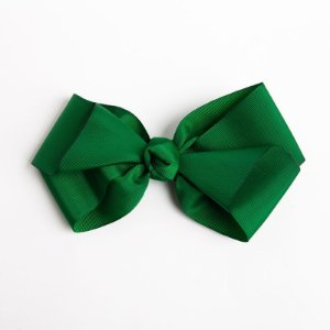 Laço Hortência Verde Bandeira  Fita De Gorgurão No Bico De Pato Com Nó No Meio