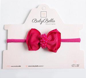 Faixa jasmim Com Miolo De Pérolas Pink
