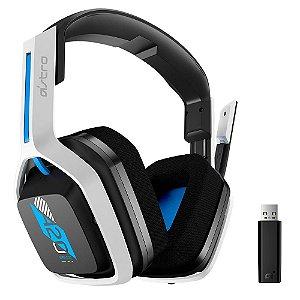 Headset Sem Fio Gamer ASTRO A20 Gen 2, USB, para PS5 / PS4 / PC / Mac, Branco/Azul