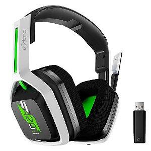 Headset Sem Fio Gamer ASTRO A20 Gen 2, USB, para Xbox Series X/S Xbox One / PC / Mac, Branco/Verde
