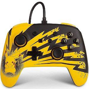 Controle Com Fio para Switch Pikachu Lightning - PowerA