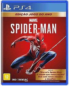 Game Marvel's Spider Man Edição Jogo do ano - PS4