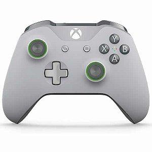 Controle Sem Fio Xbox One Verde e Cinza - Microsoft